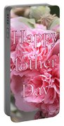 Pink Hollyhock Mother's Day Card Portable Battery Charger