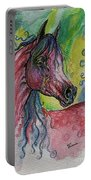 Pink Horse With Blue Mane Portable Battery Charger