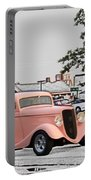 Pink Hot Rod Cruising Woodward Avenue Dream Cruise Selective Coloring Portable Battery Charger