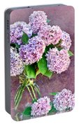 Pink Hydrangeas Portable Battery Charger