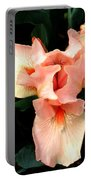 Pink Iris Portable Battery Charger