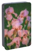 Pink Iris Family Portable Battery Charger