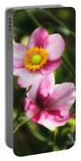 Pink Japanese Anemone Portable Battery Charger
