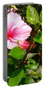 Pink Java Flower  Portable Battery Charger