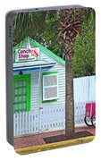 Pink Lady And The Conch Shop  Portable Battery Charger