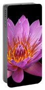 Pink Lady On Black Portable Battery Charger