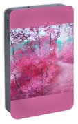 Pink Landscape Portable Battery Charger