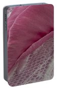 Pink Lavatera Bud Macro Portable Battery Charger