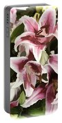 Pink Lilies I Portable Battery Charger