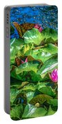Pink Lilly Flowers And Pads Portable Battery Charger