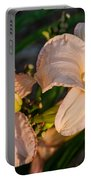 Pink Lily At Sunset 2 Portable Battery Charger