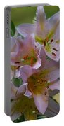 Pink Lily Fantasia Portable Battery Charger