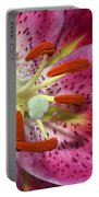 Pink Lily Up Close Portable Battery Charger