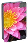 Pink Lotus Flower - Zen Art By Sharon Cummings Portable Battery Charger