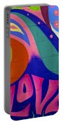 Pink Love Graffiti Nyc 2014 Portable Battery Charger