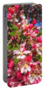 Pink Magnolia 2 Portable Battery Charger by Joann Vitali