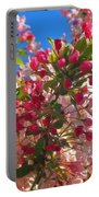 Pink Magnolia Portable Battery Charger by Joann Vitali