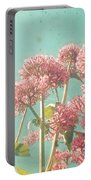 Pink Milkweed Portable Battery Charger