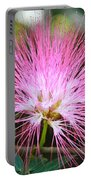 Pink Mimosa Flower Portable Battery Charger