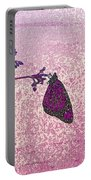 Pink Monarch Portable Battery Charger
