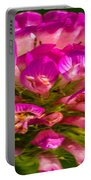 Pink Mystery Flower Portable Battery Charger