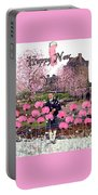 Pink New Year Greeting Portable Battery Charger