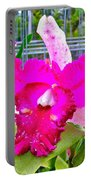 Pink Orchid At Maerim Orchid Farm In Chiang Mai-thailand Portable Battery Charger