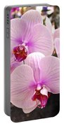Pink Orchid Duo Portable Battery Charger