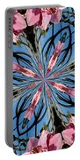 Pink Orchid Kaleidoscope 2 Portable Battery Charger