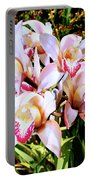 Pink Spirit Orchids Palm Springs Portable Battery Charger