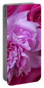 Pink Peonies And Pink Roses Portable Battery Charger