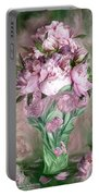 Pink Peonies In Peony Vase Portable Battery Charger