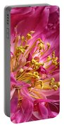 Pink Peony Flower Macro Portable Battery Charger