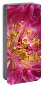Pink Peony Flower Macro Portable Battery Charger by Jennie Marie Schell