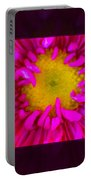 Pink Petals Envelop A Yellow Center An Abstract Flower Painting Portable Battery Charger