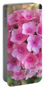 Pink Phlox 2 Portable Battery Charger