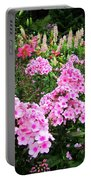 Pink Phlox Portable Battery Charger