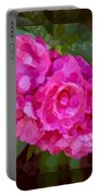 Pink Plumeria Abstract Flower Painting Portable Battery Charger