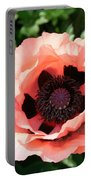Pink Poppy Bloom Portable Battery Charger
