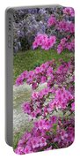 Pink Purple Mississippi Blooms Portable Battery Charger