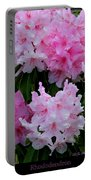 Pink Rhododendrons Portable Battery Charger