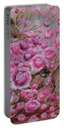 Pink Rose Birdies Portable Battery Charger