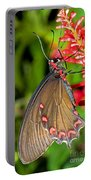 Pink Rose Butterfly Portable Battery Charger