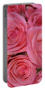 Pink Rose Closeup Portable Battery Charger