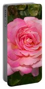 Pink Rose Full Bloom Portable Battery Charger