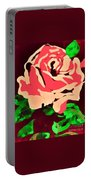 Pink Rose Impression Portable Battery Charger
