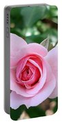 Pink Rose - Square Print Portable Battery Charger