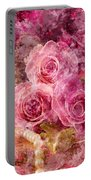 Pink Roses And Pearls Portable Battery Charger