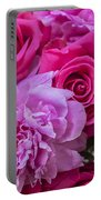 Pink Roses And Peonies Please Portable Battery Charger