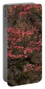 Pink Spring - Dogwood Filigree And Lace Portable Battery Charger by Georgia Mizuleva